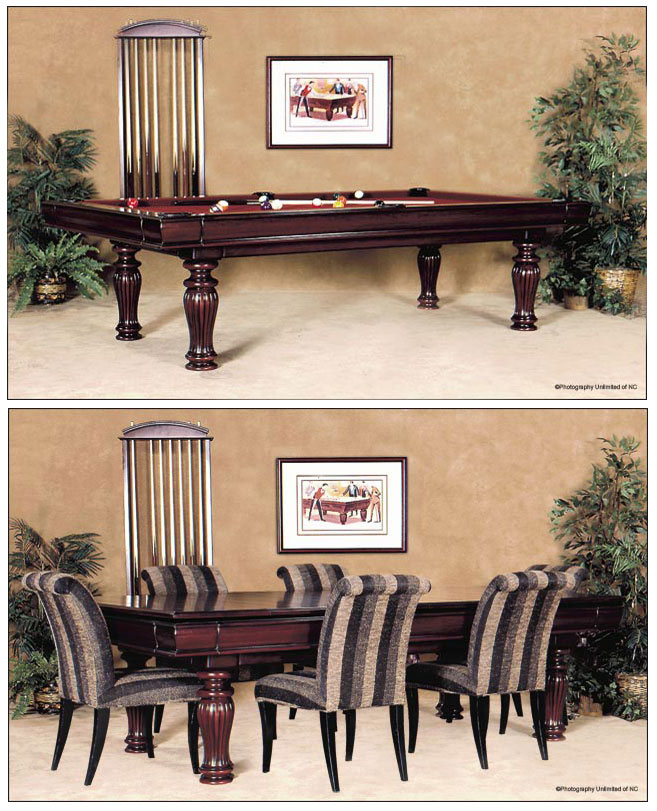 Trending combination dining pool tables boston design guide - Snooker table dining table combination ...