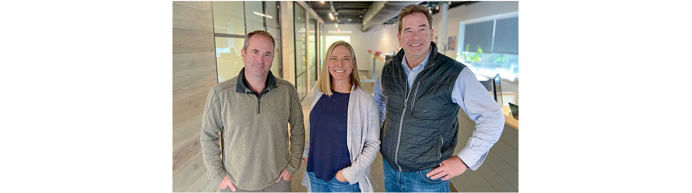 Eric Hill, Jessica Griffith and David Brookes of brookes + hill custom builders, inc.