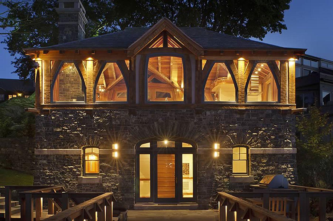 Custom boathouse renovation