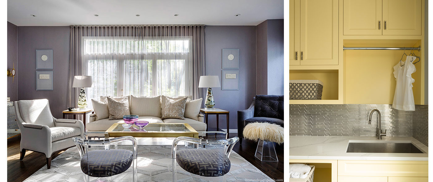 Pastel living spaces inspired by Conversation Hearts for Valentine's Day