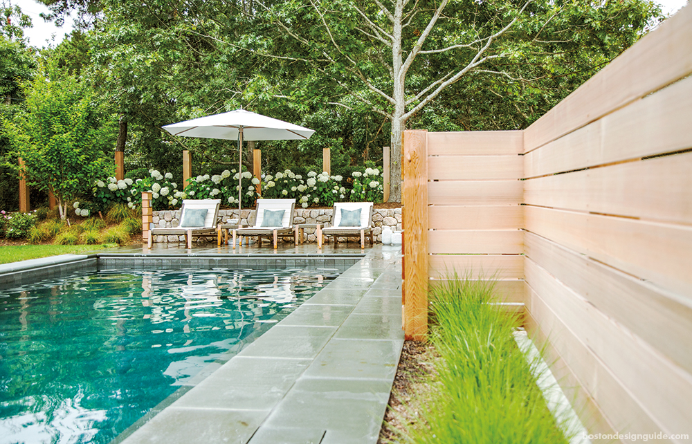 Cape Cod Summer Home Outdoor Pool and Beautiful Landscaping