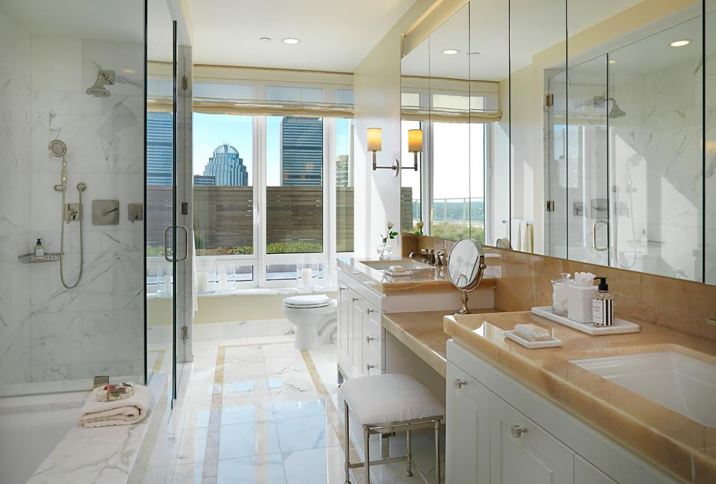 High-end master baths