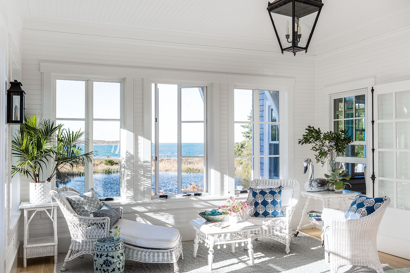 Sun porch of a beloved Cape Cod home and high-end renovation