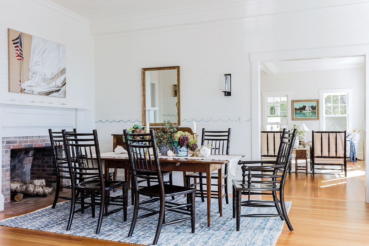 Preserving the original dining room of a Cape Cod cottage