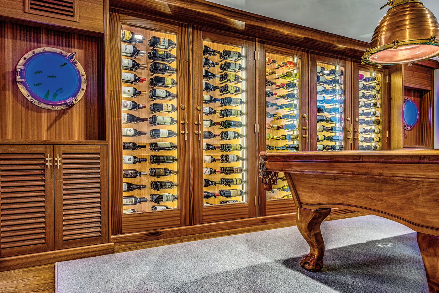 Wine cabinets by Charles River Wine Cellar