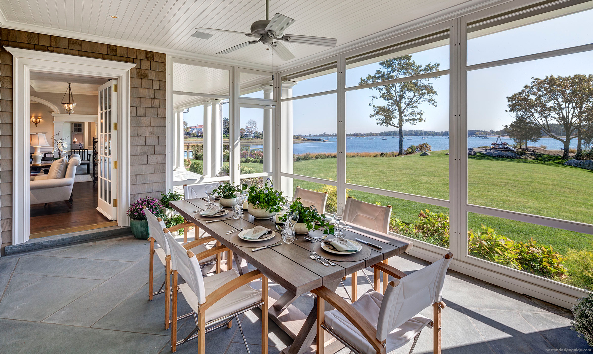 High-end screened porch
