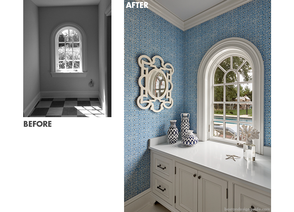 bathroom renovation in pool house