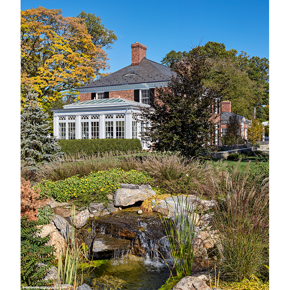 Home conservatory, landscape, architecture in New England