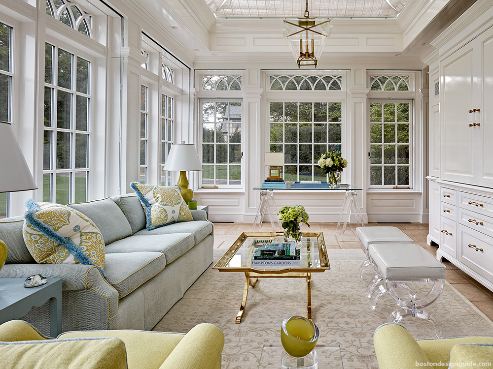 historic gregorian home addition and renovation, conservatory
