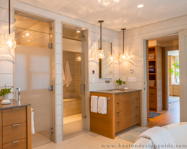 high-end master bath