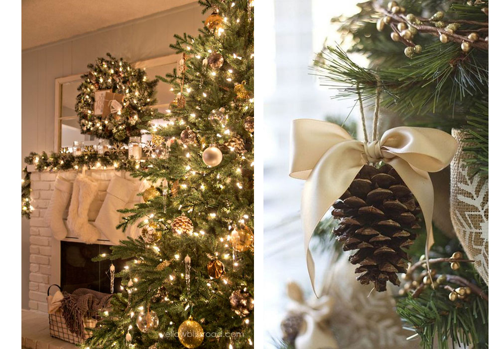Christmas trees with rustic glam