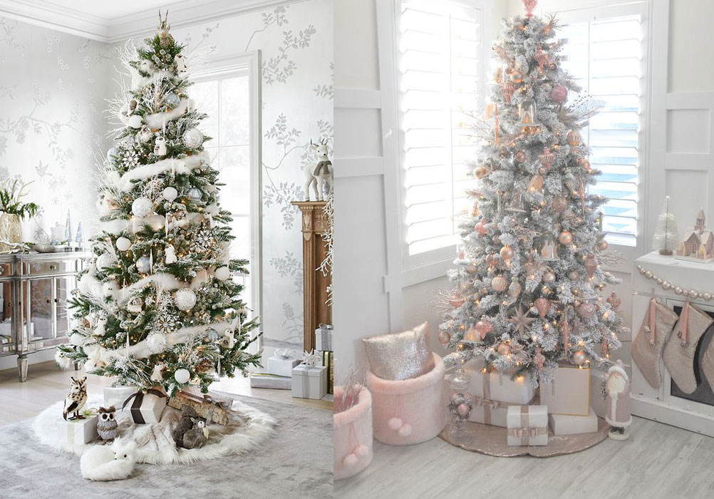 chic christmas trees