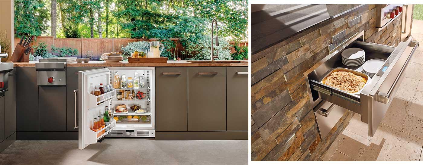 Clarke refrigerator and warming drawer