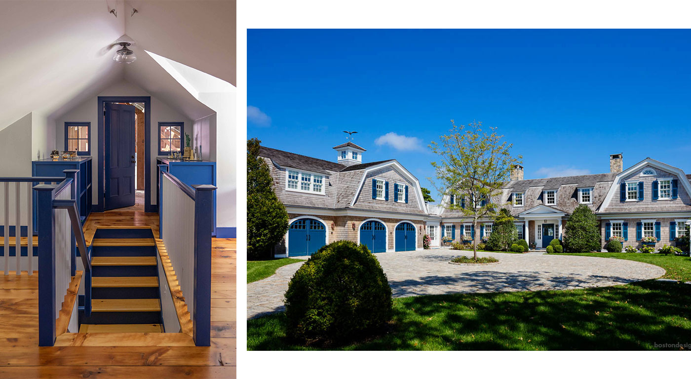 Interior and exterior design applications of Pantone Color of the Year 2020, Classic Blue