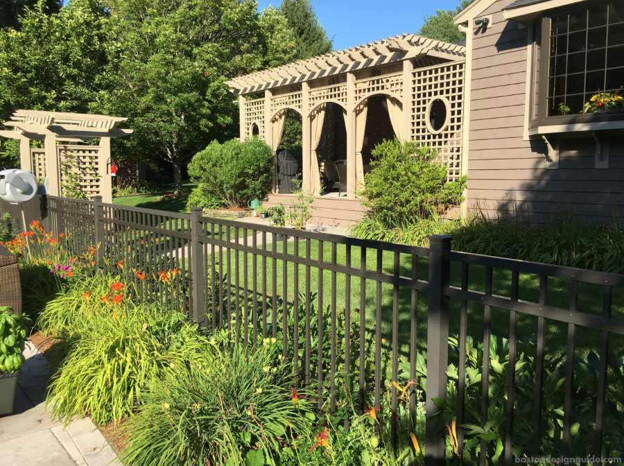 Custom residential home fencing and pergolas in New England