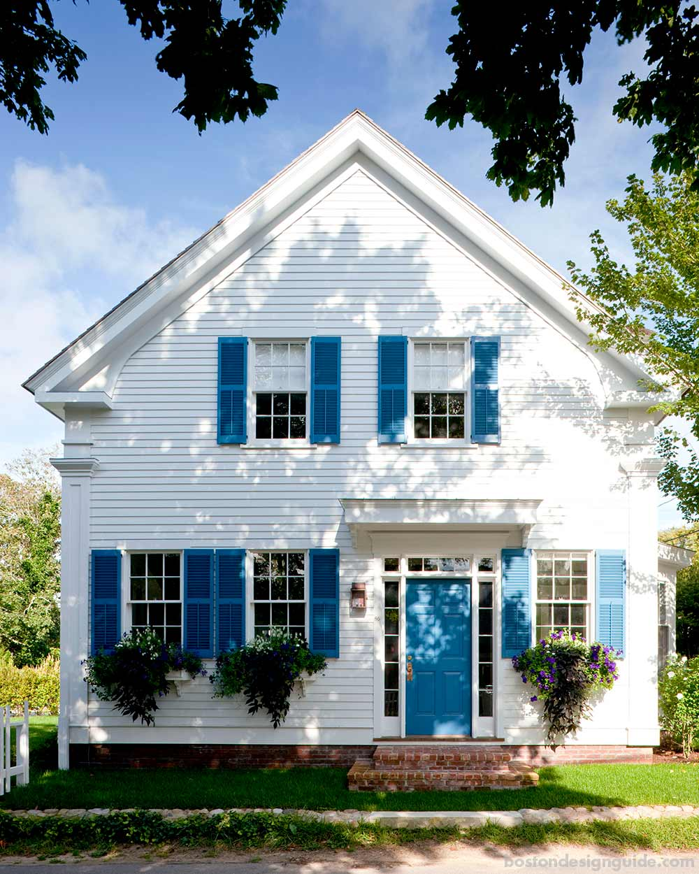 Returning the charm to a 19th century captain s house on for Martha s vineyard house plans