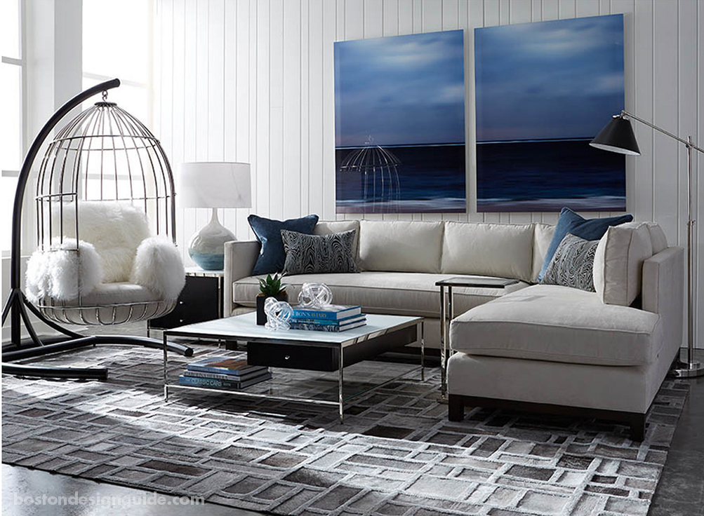 Contemporary rug and furniture pairings