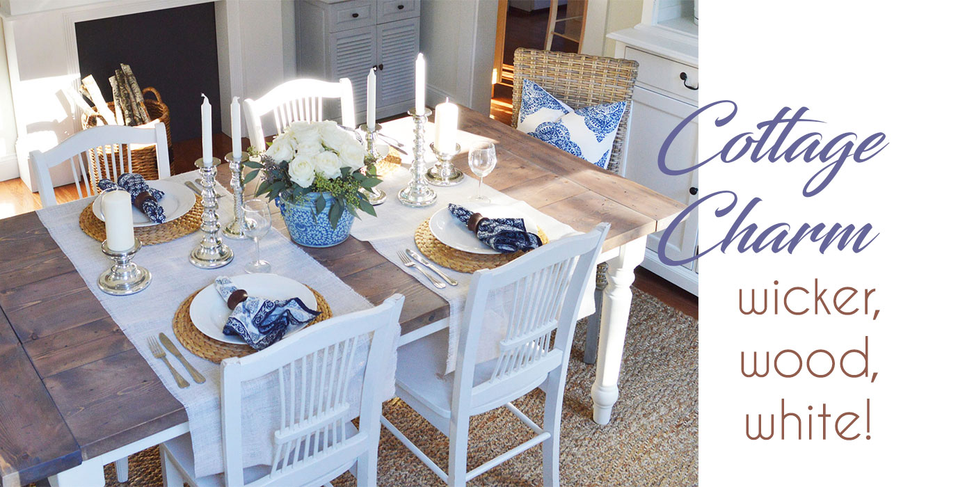 Cottage-chic table design by Summerland Homes and Gardens