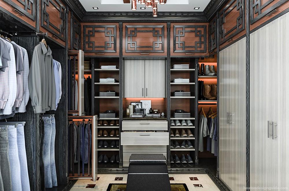 Custom Closets Asian influenced design