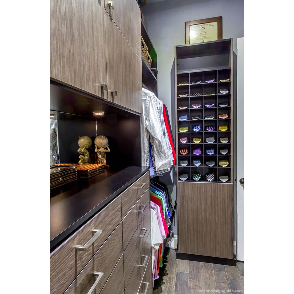 Custom modern closets for him