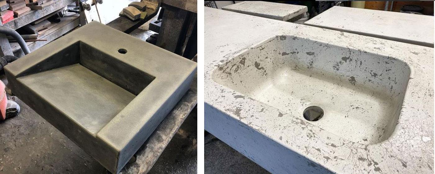 2 customized sinks