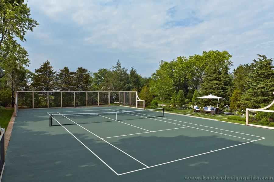 tennis court by Dan Gordon Landscape Architect