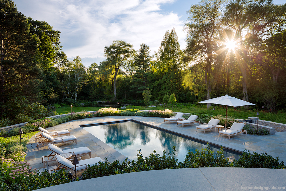 residential home pool landscape maintenance in New England