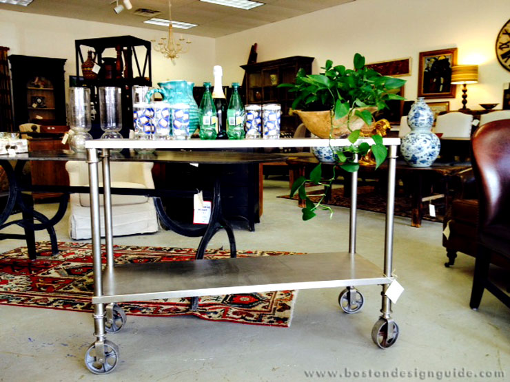 Stainless Trolley available at Darby Road Home
