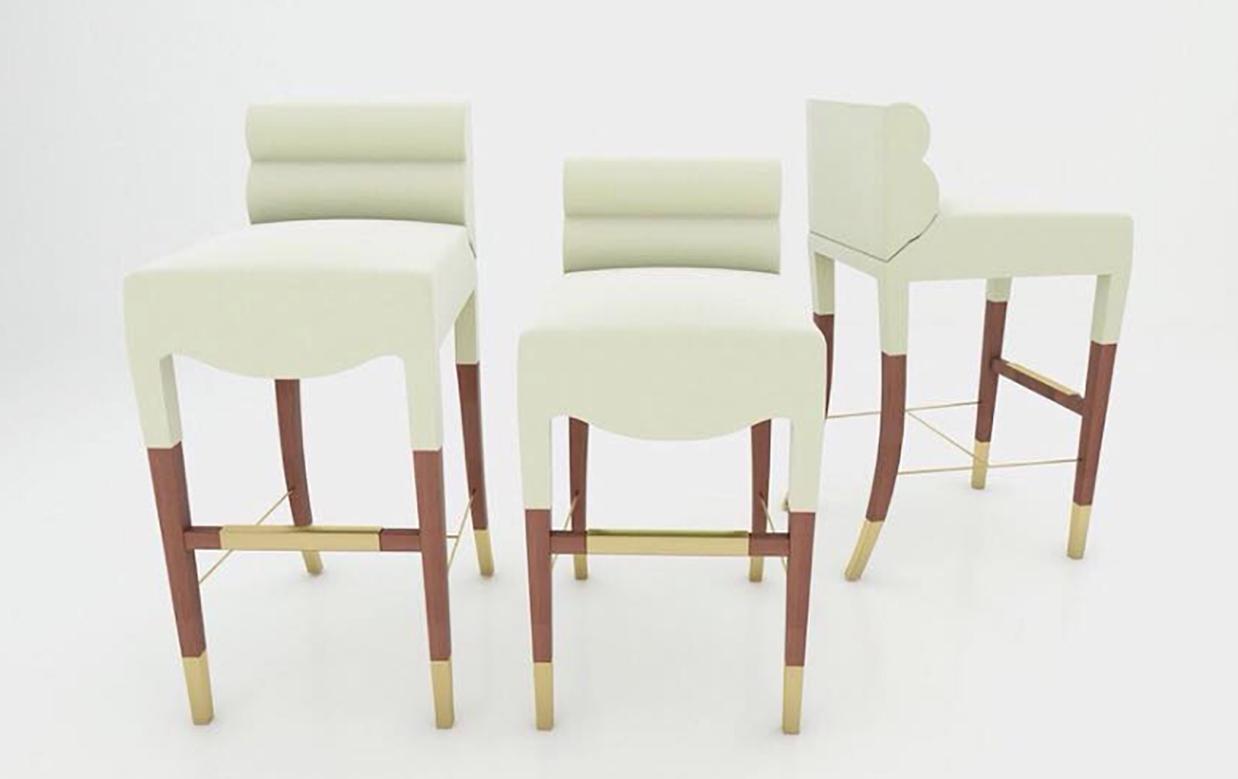 Designer-made barstools