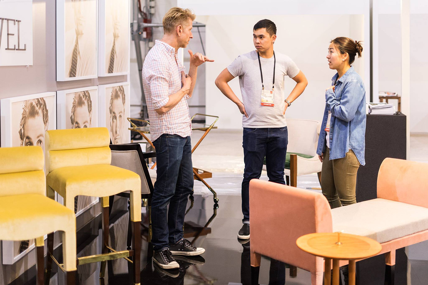 Boston interior designer furniture line