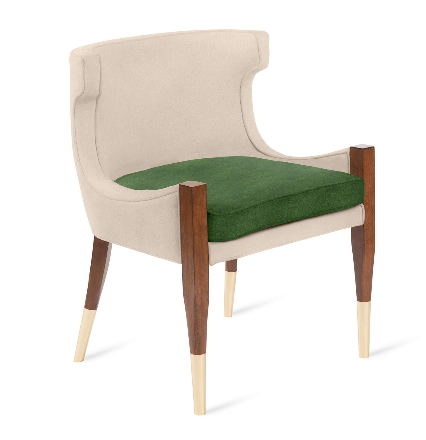 High-end armchair by Boston interior designer