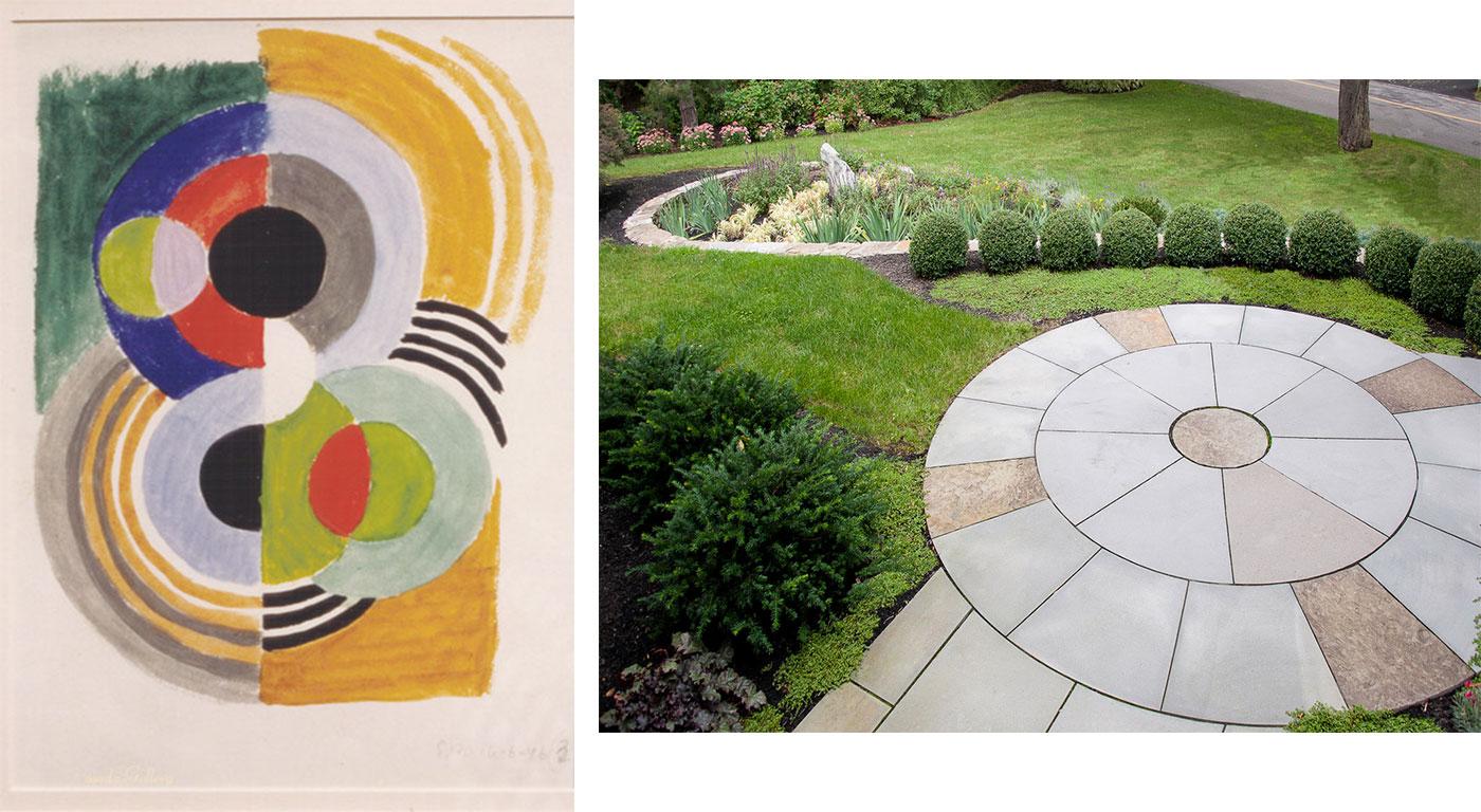 Delaunay Art Garden by Amy Martin Landscape Design