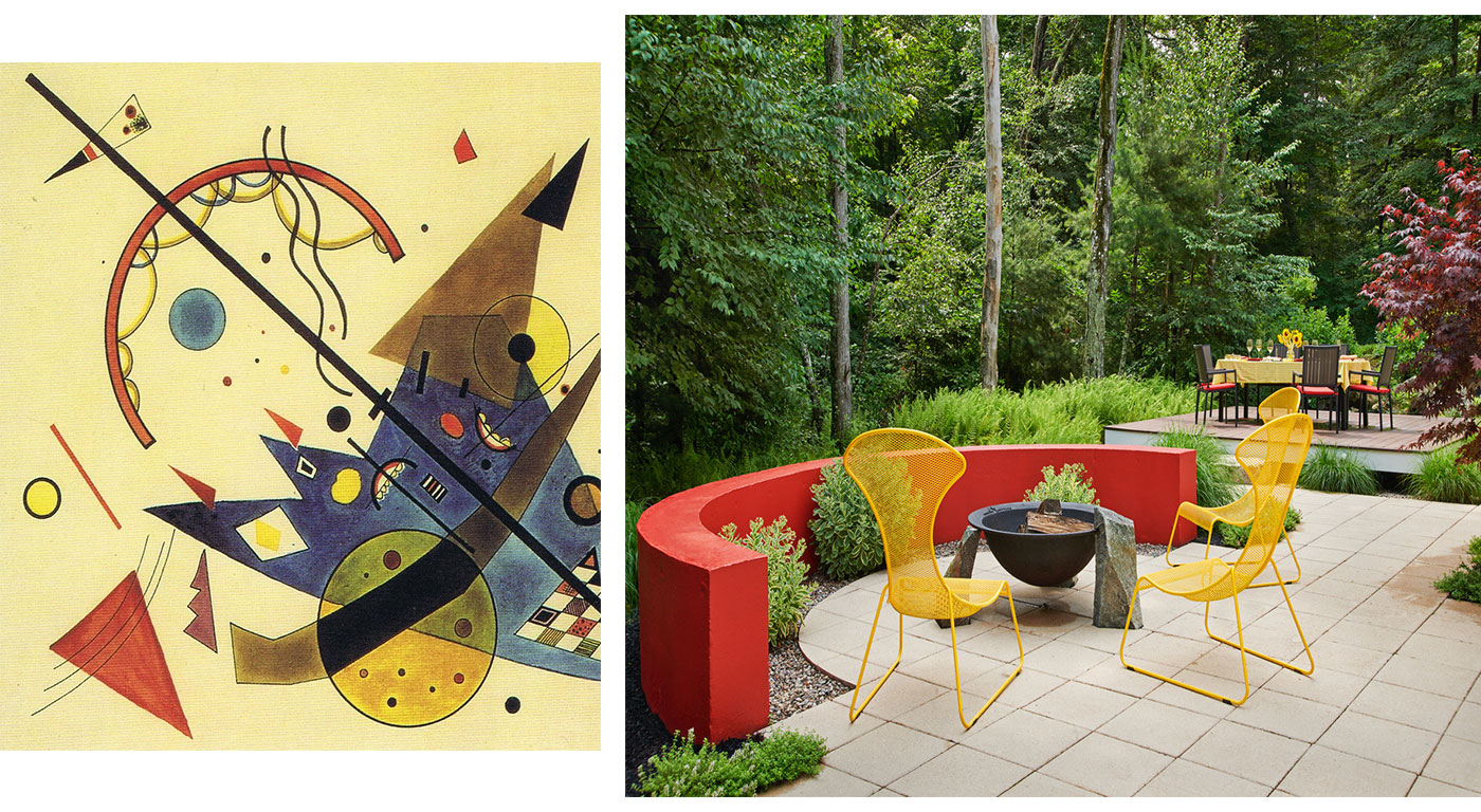 Kandinsky Art Garden by Amy Martin Landscape Design