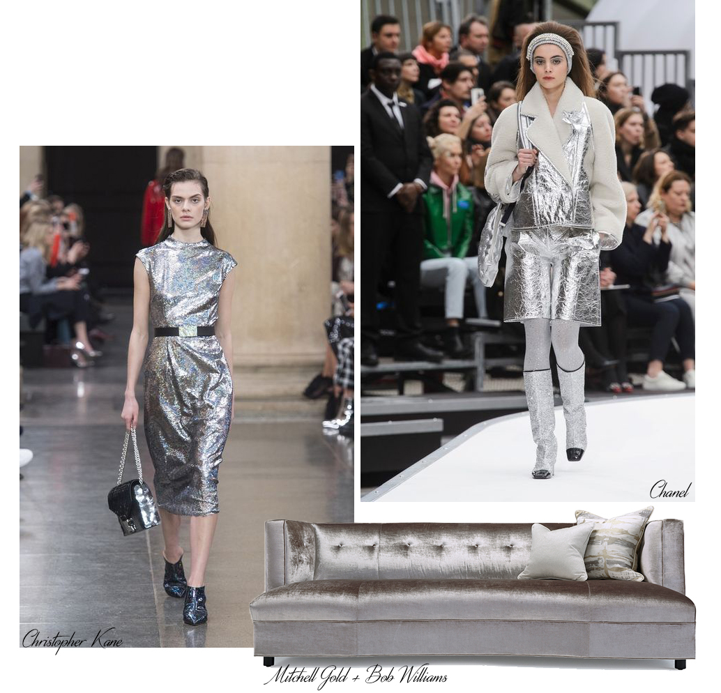 metallic design trends for fall