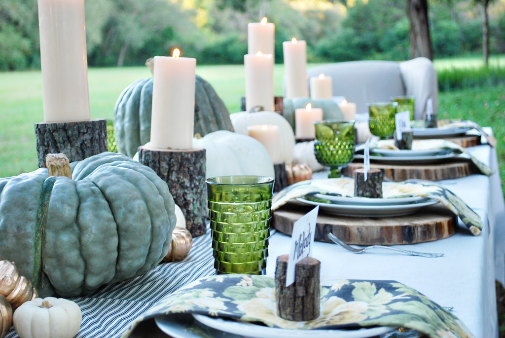 outdoor table settings for fall