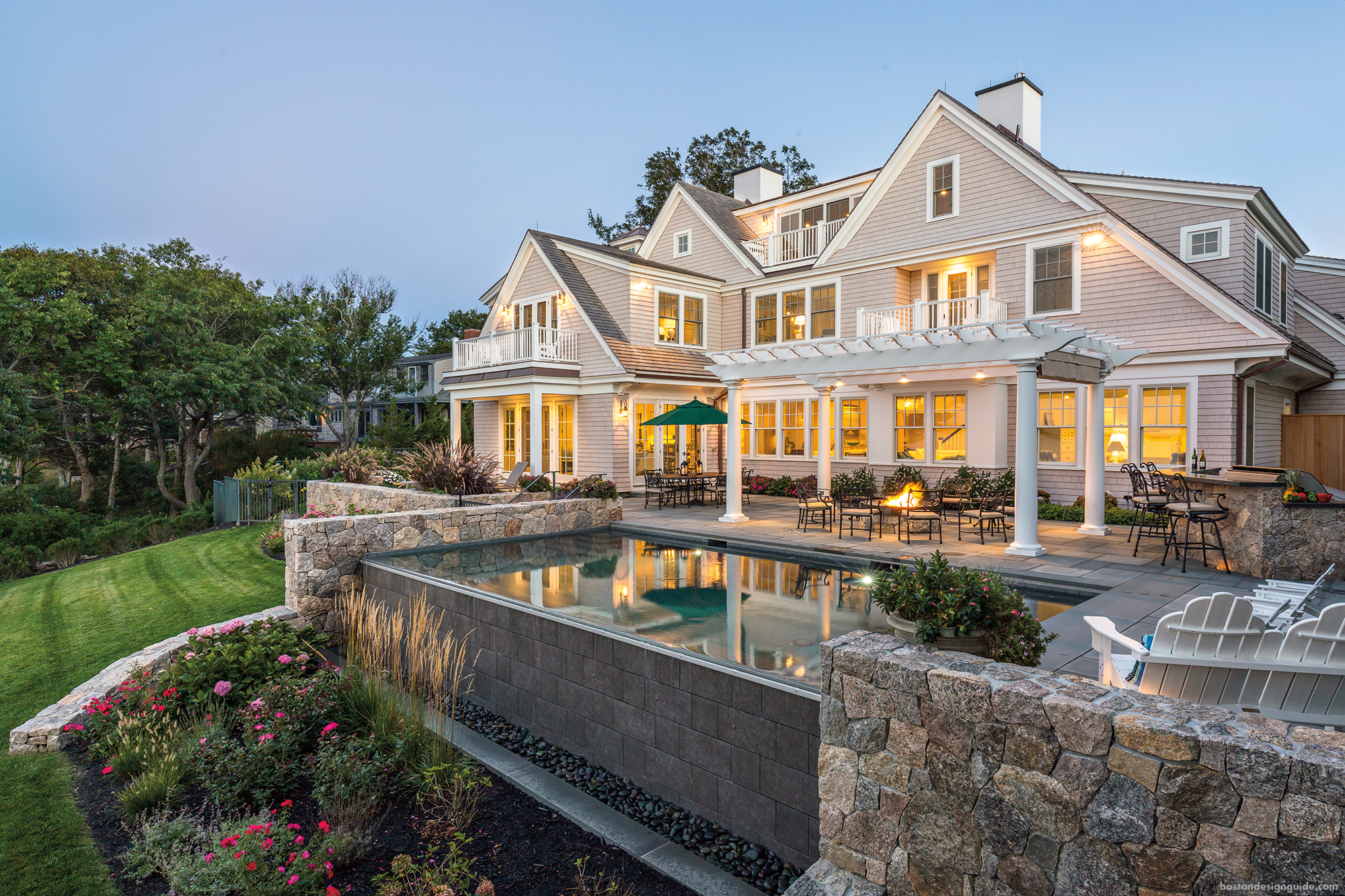 waterfront mansion in Falmouth Cape Cod