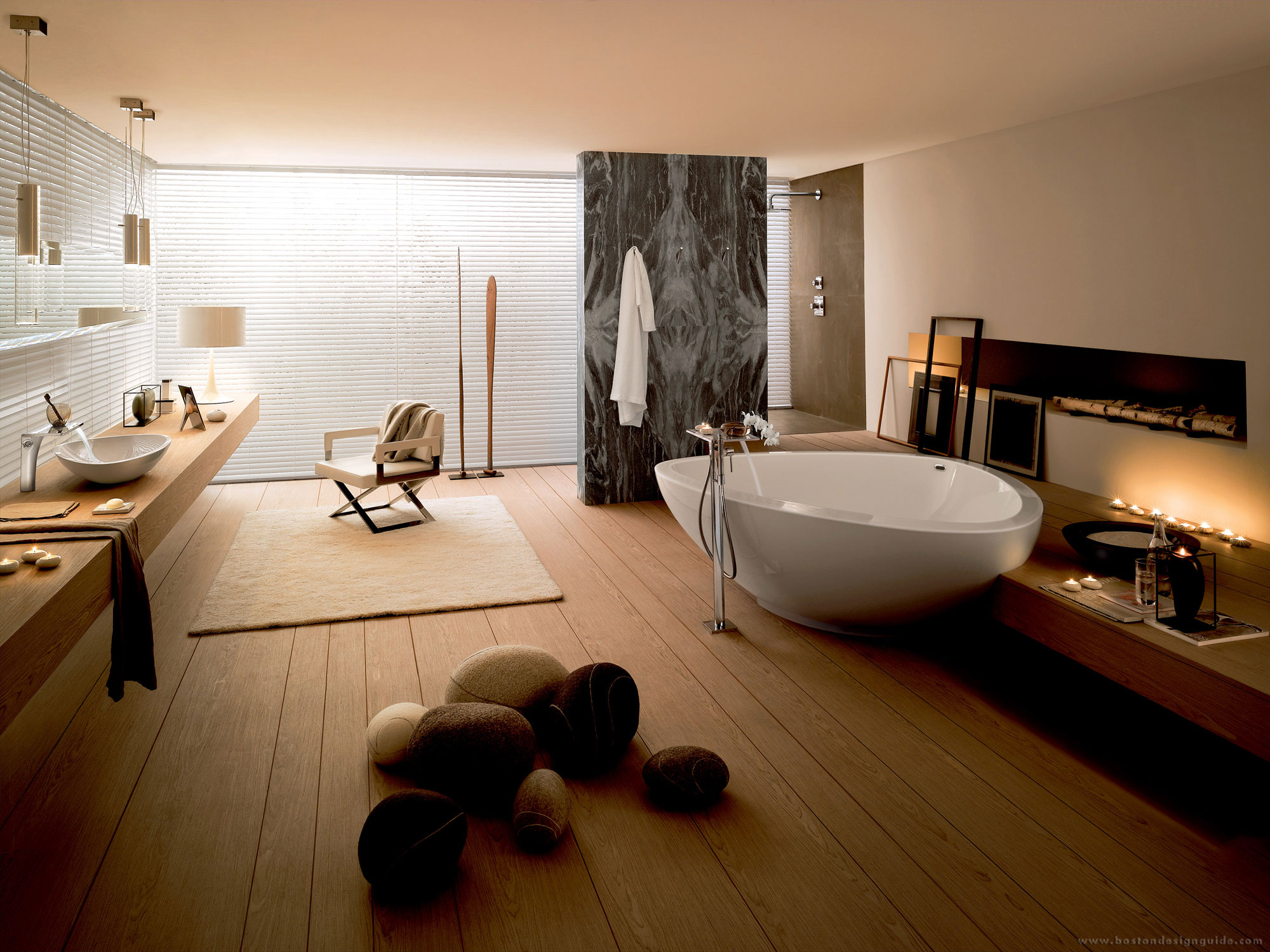 Jett Road Residence Bath by Beth Webb Interiors