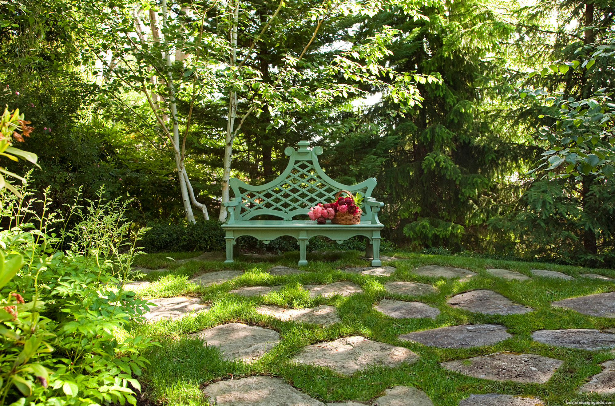 Romantic southing home gardens and landscape design