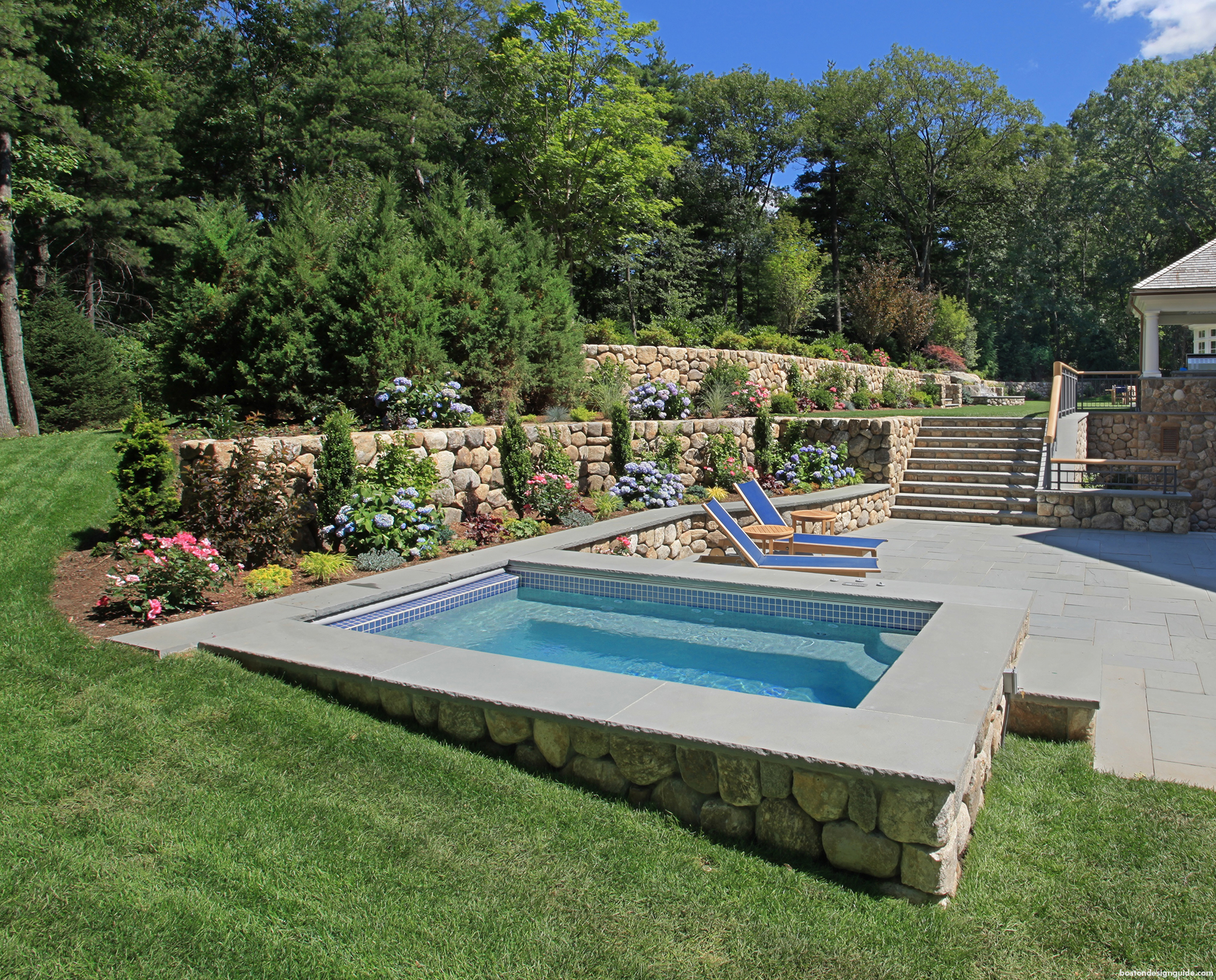 Home yard landscaping design and luxury spaces
