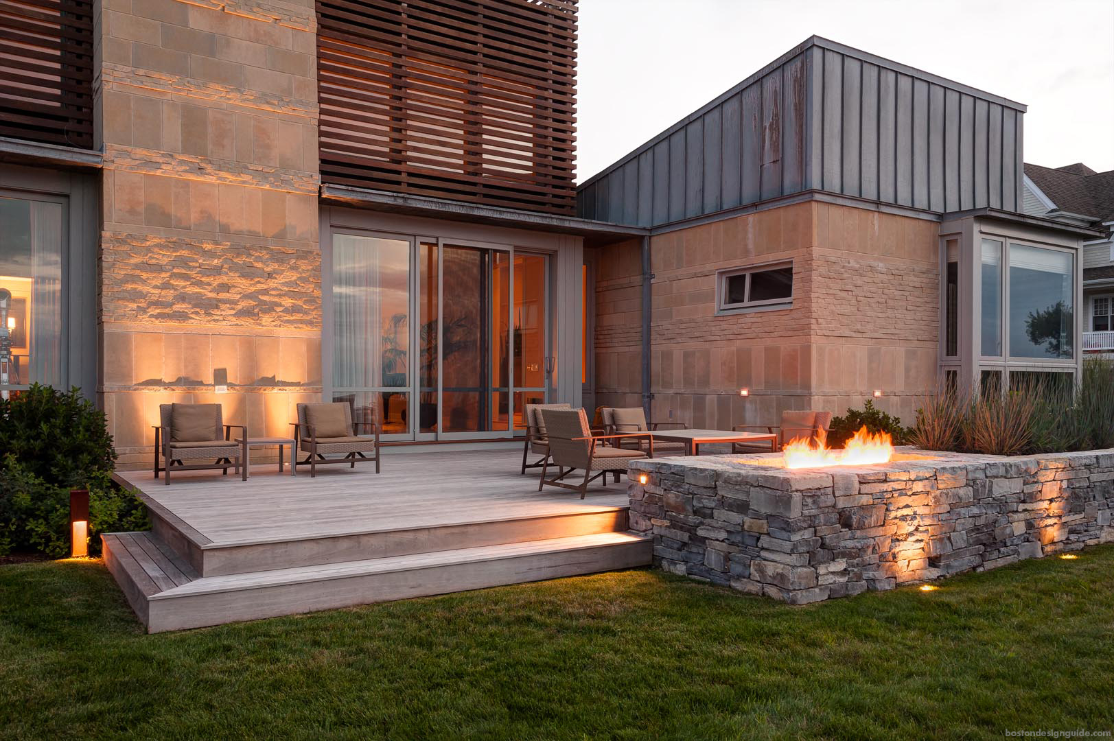 home alfresco landscape patio design