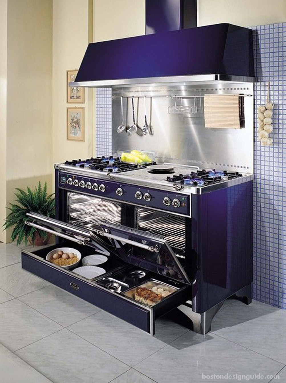 high-end oven and range