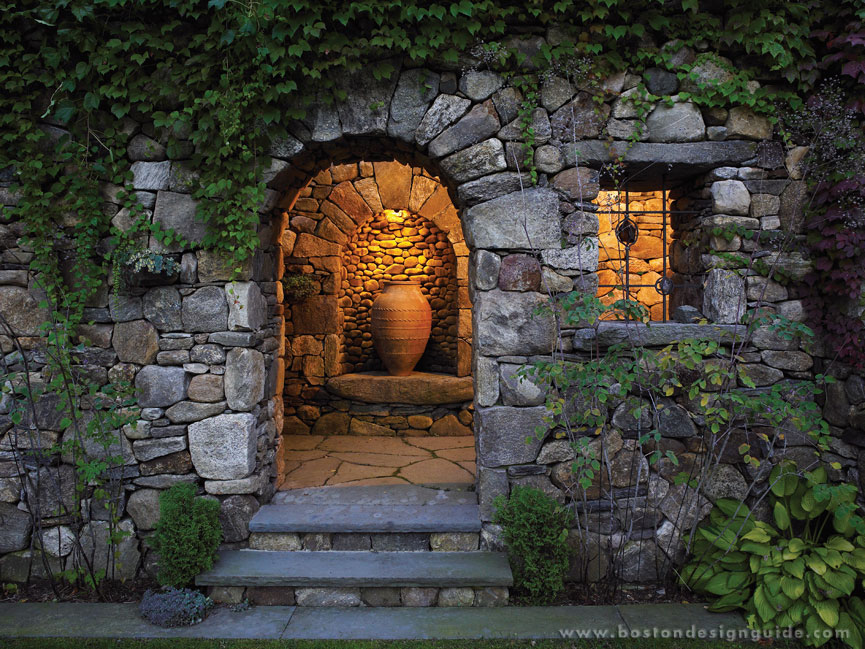 Gregory lombardi design for Garden grotto designs