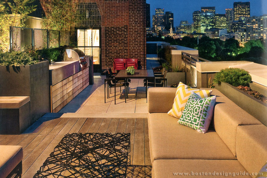 high-end landscape architect, roof deck