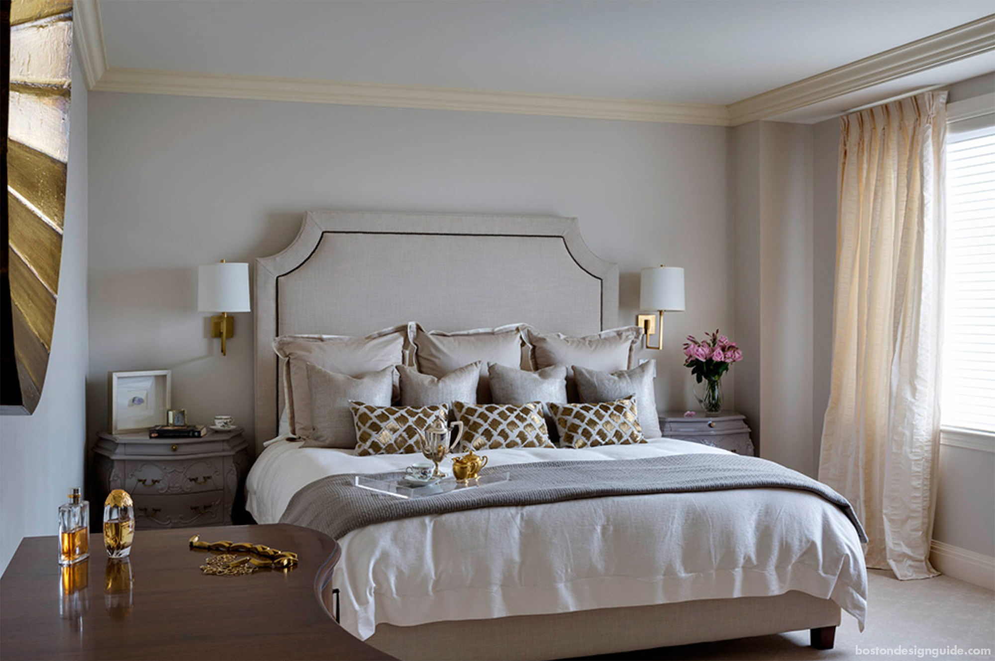 High-end bedroom with glamour