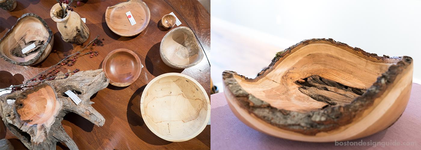 Artistic wood bowls