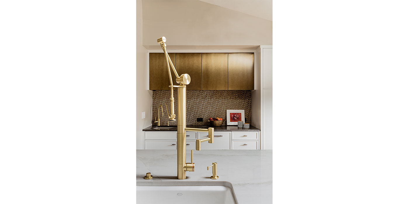 Contemporary faucet by Waterstone, used in kitchen designer Donna Venegas' own home.