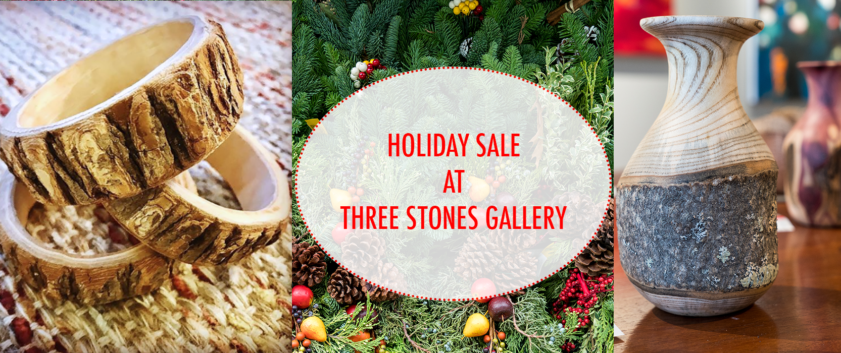 holiday art gallery sale at three stones gallery in west concord ma