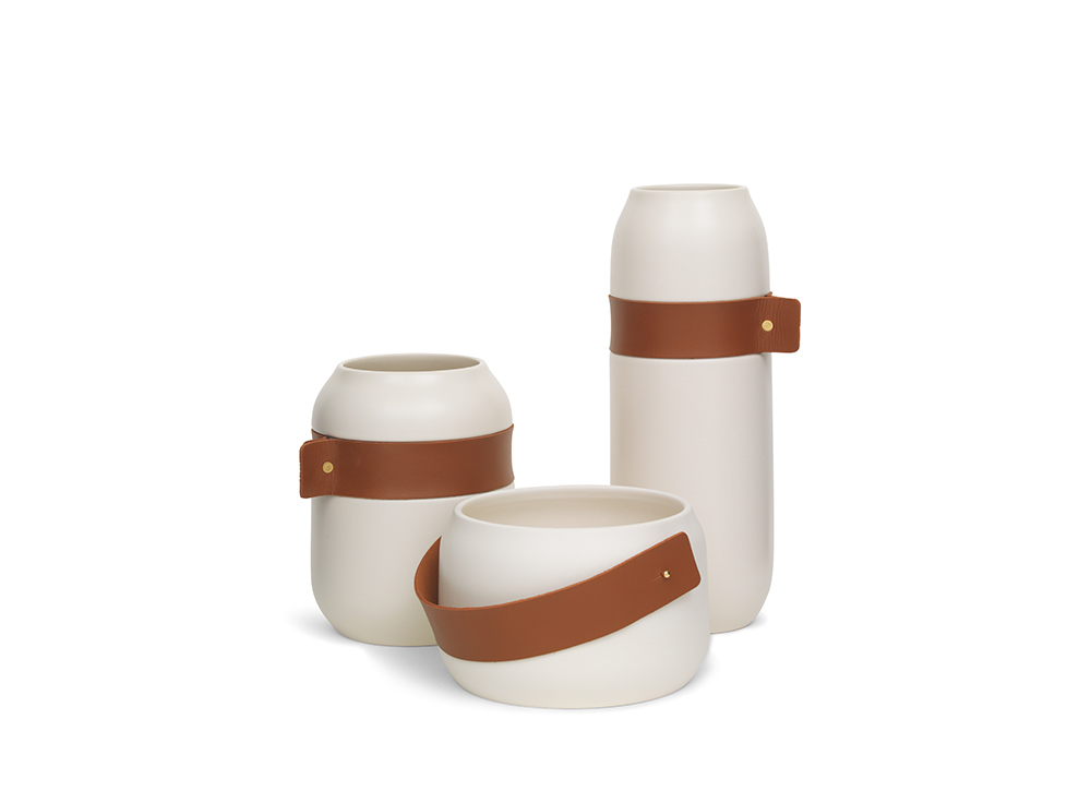 Leather Wrapped Vases Holiday Gifts