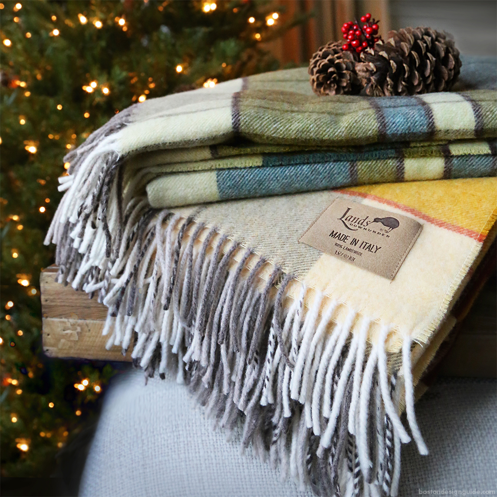Unique holiday shopping gifts for the family boston design guide - Home Holiday Blanket Gifts