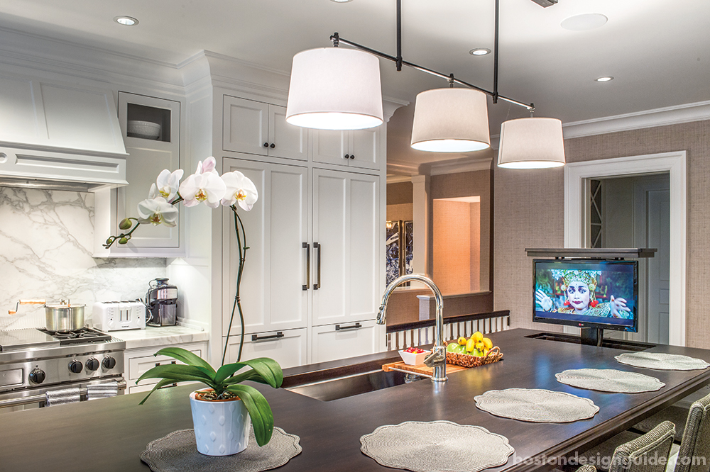 kitchen home integration television systems